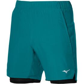 Mizuno Core 7.5 2i1 shorts Herrer, blå/sort